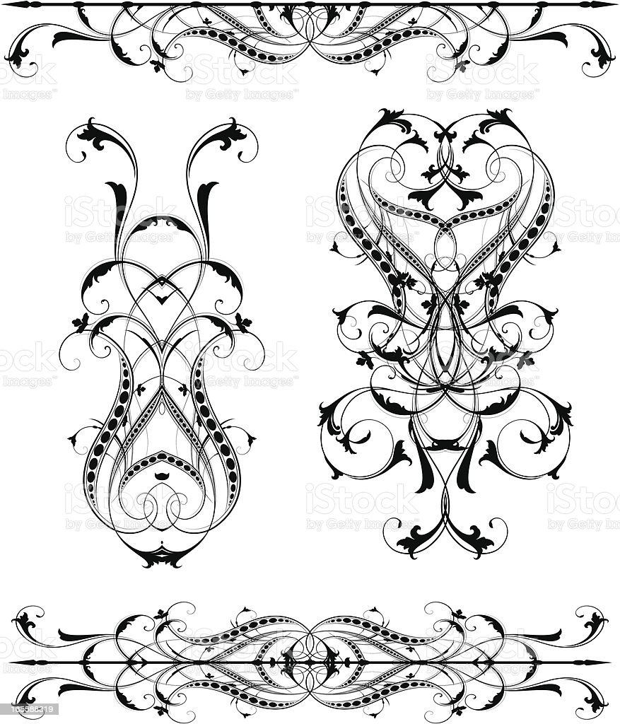 Intertwining Element Set royalty-free stock vector art