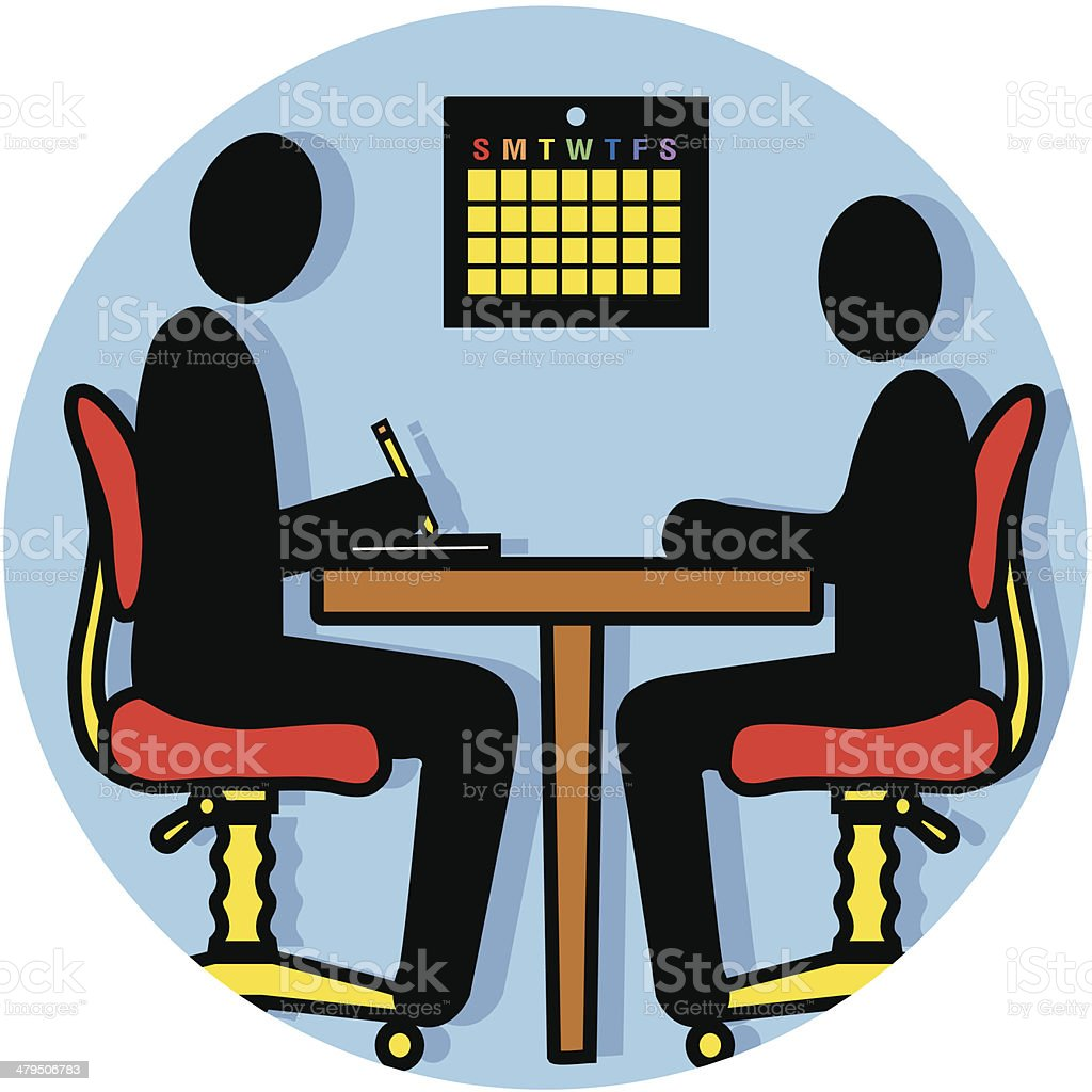 interview 01icon royalty-free stock vector art