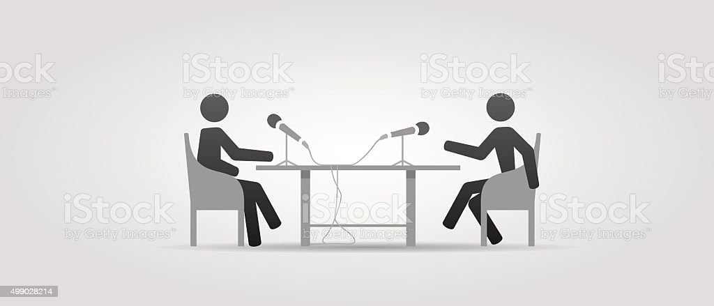 Interview icon vector art illustration