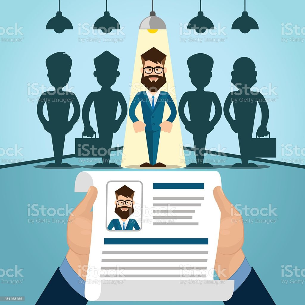 Interview Job vector art illustration