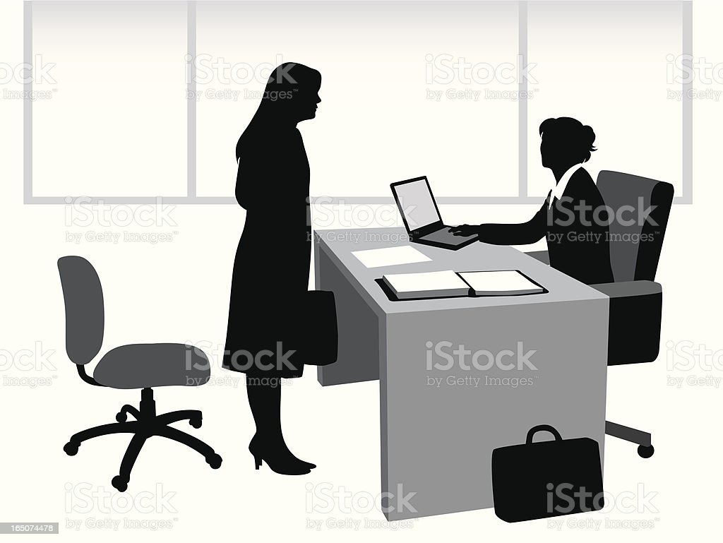 Interview Vector Silhouette royalty-free stock vector art