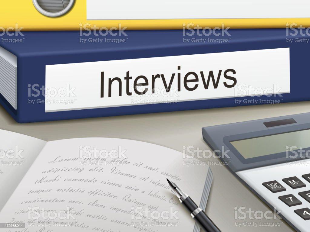 interviews binders vector art illustration