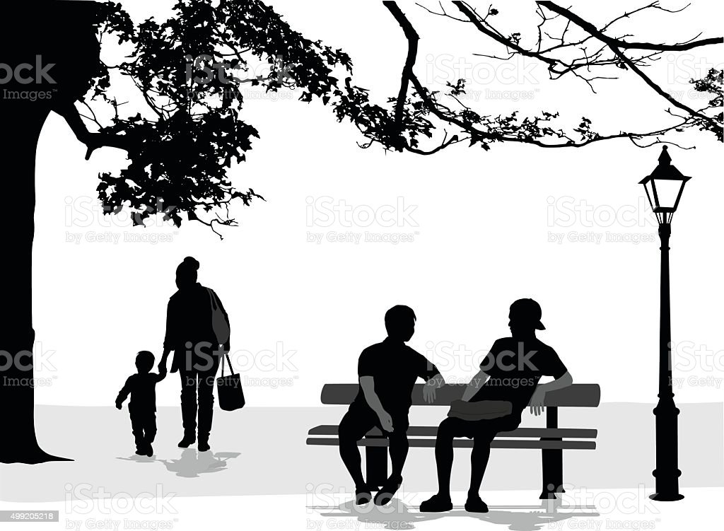 Intimate Talk vector art illustration