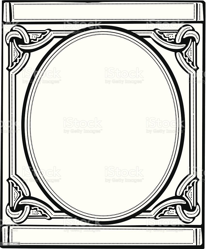 Intricate Vintage Stamp Border - Vector royalty-free stock vector art
