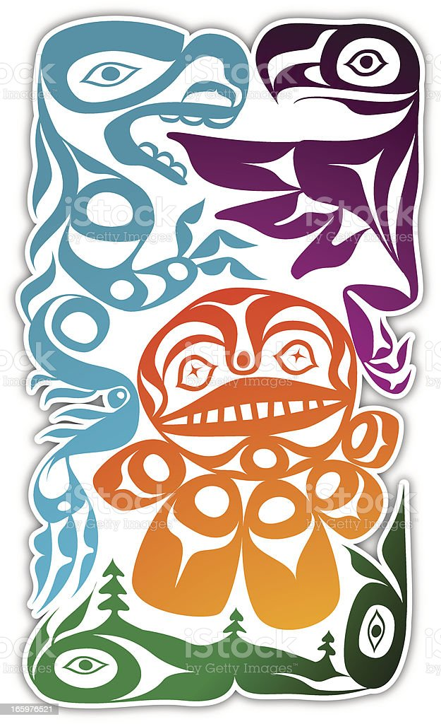 Inuit composition vector art illustration