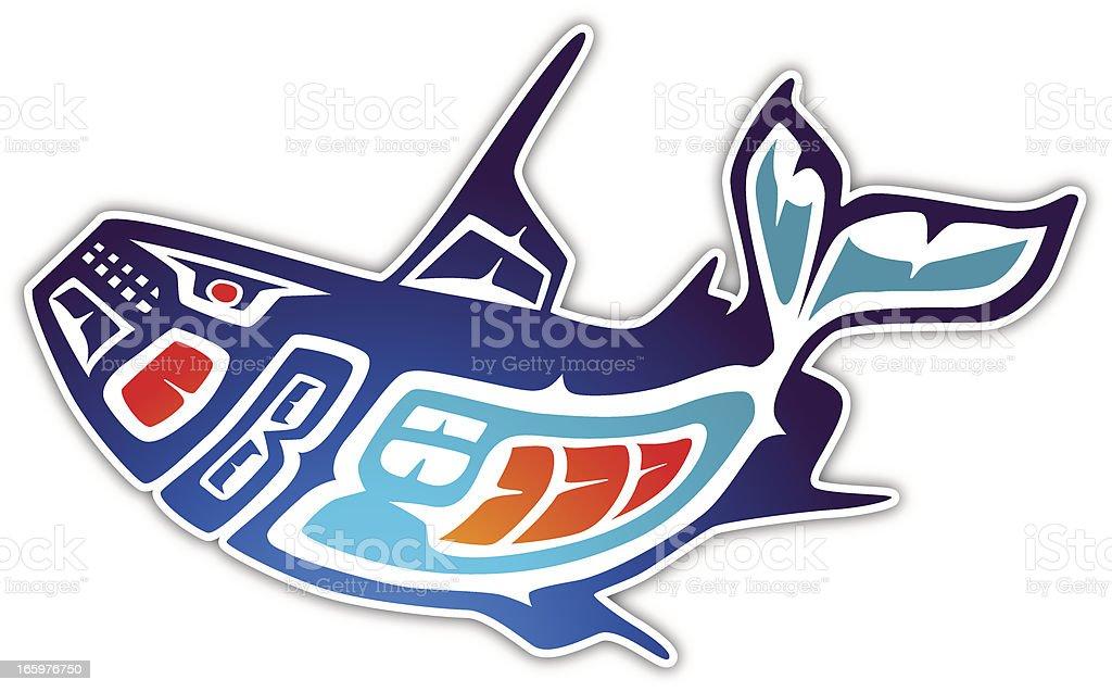 Inuit Whale vector art illustration
