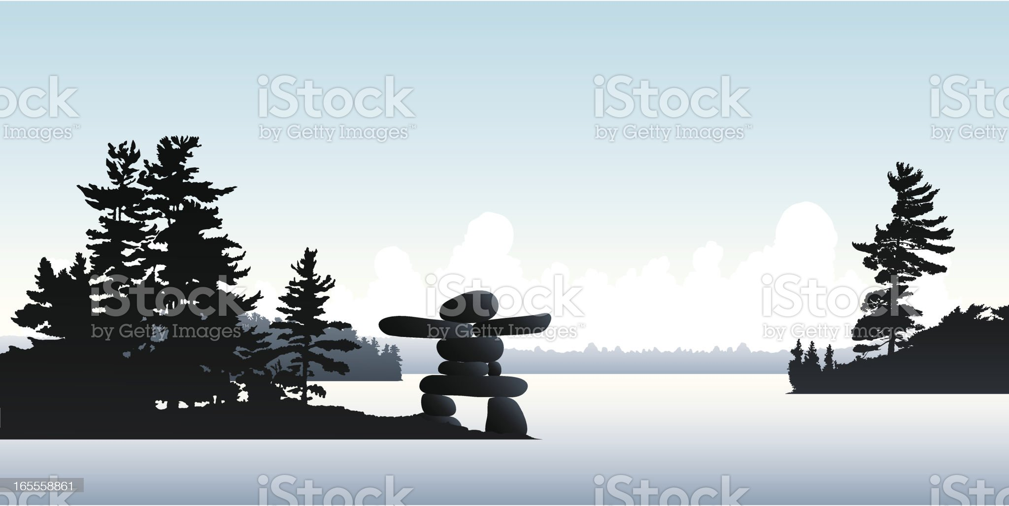 Inukshuk Island royalty-free stock vector art