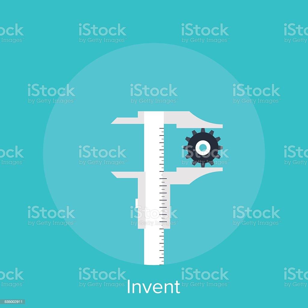 Invent vector art illustration