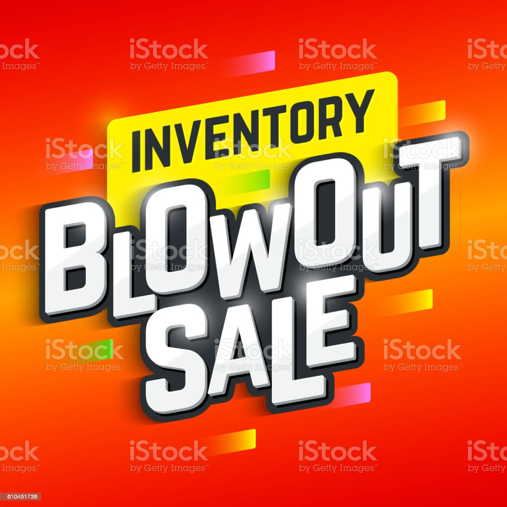 Inventory Blowout Sale banner vector art illustration