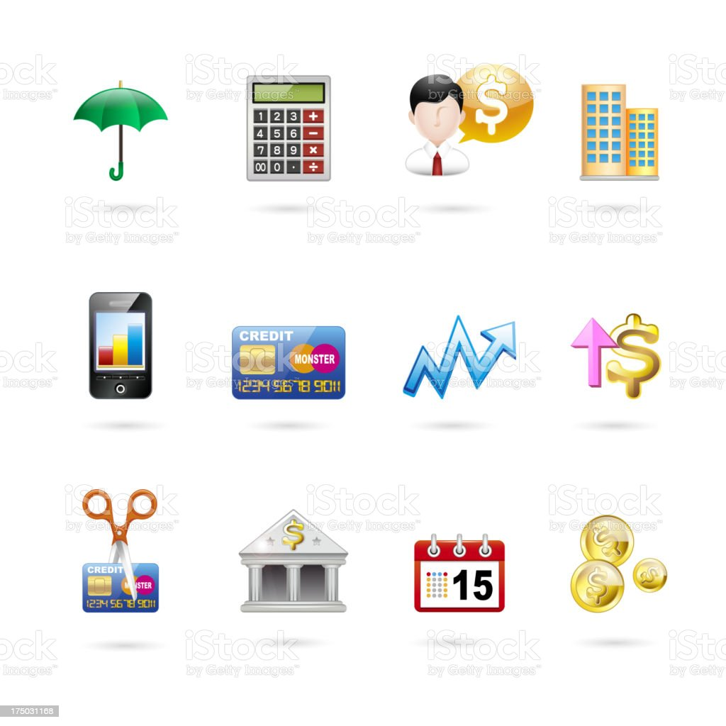 investing and finance icon set. royalty-free stock vector art