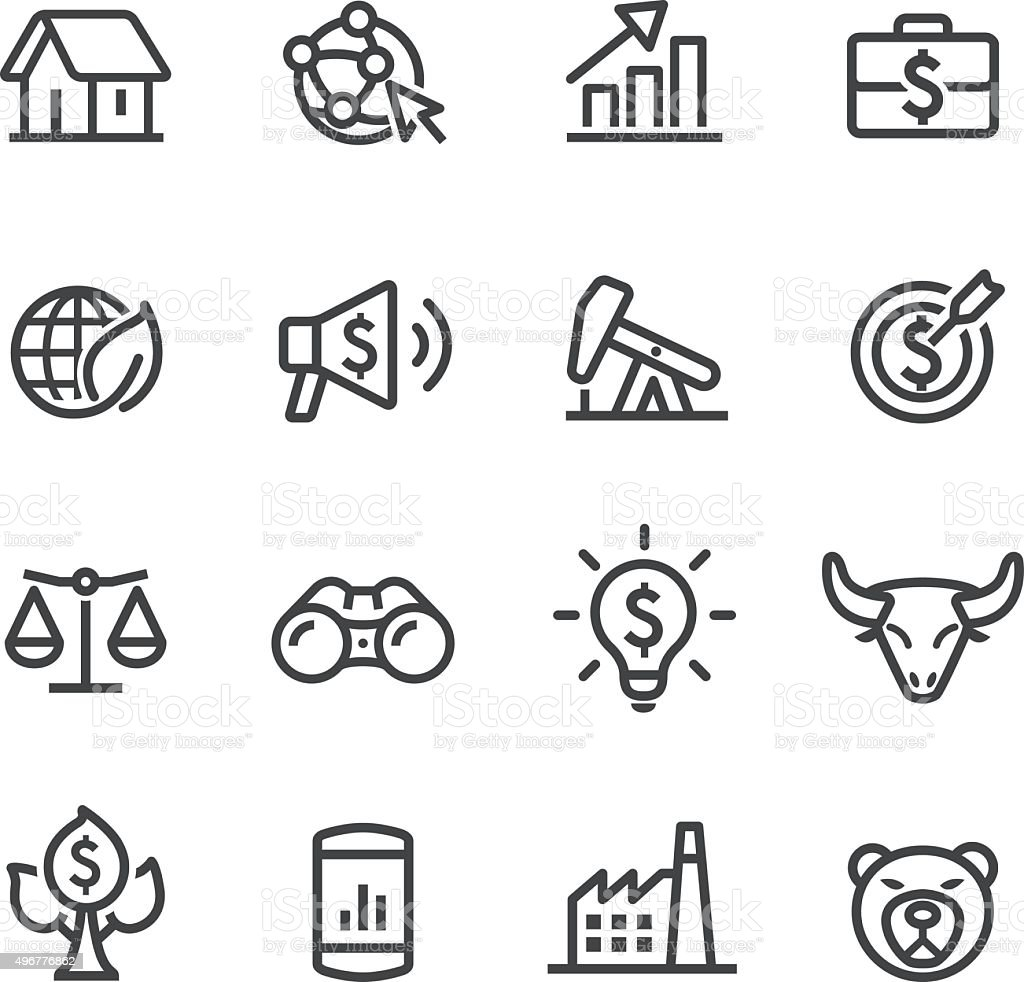 Investing and Finance Icons - Line Series vector art illustration