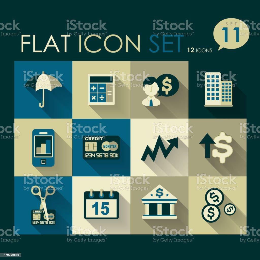 investing & finance icon set vector art illustration