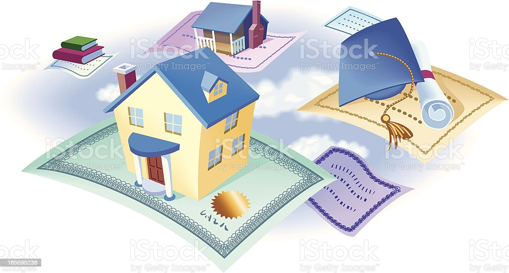 Investing in the future vector art illustration