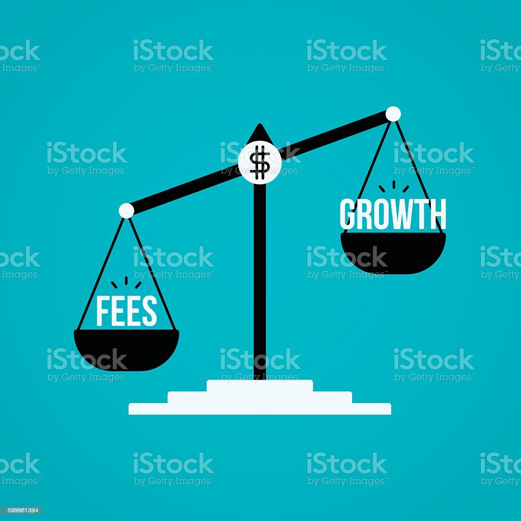 Investment Fees and Growth vector art illustration
