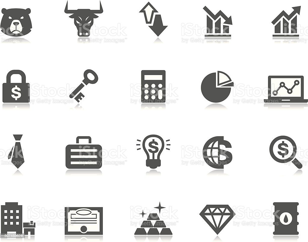 Investment & Finance icons | Pictoria series vector art illustration