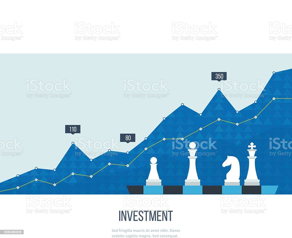 Investment growth. Strategy business. Investment. vector art illustration