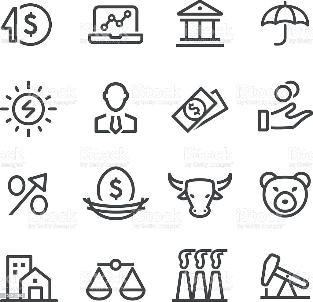 Investment Icon - Line Series vector art illustration