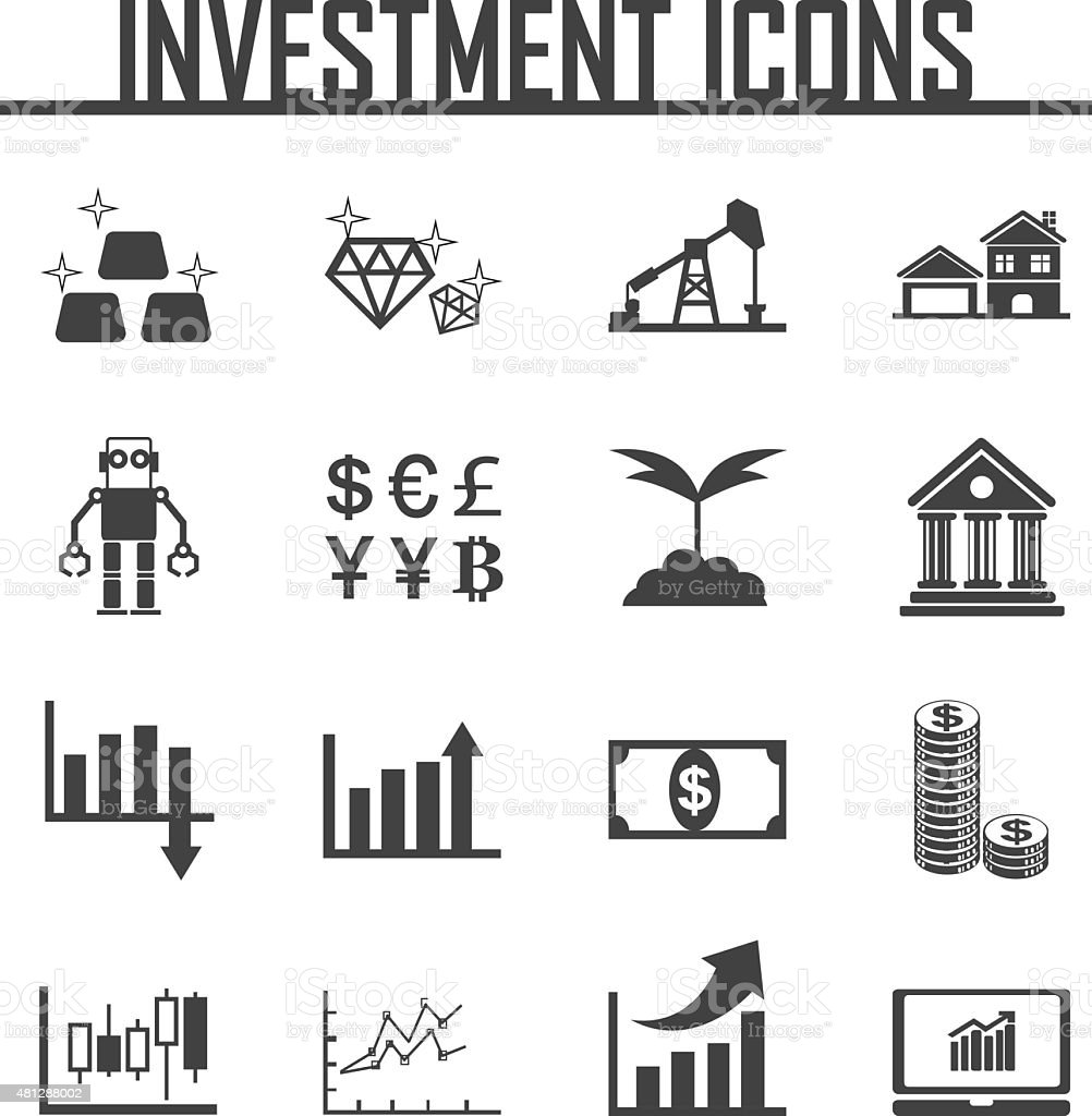 investment icon vector illustration. vector art illustration