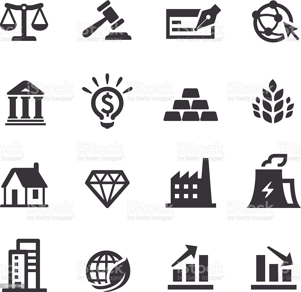 Investment Icons - Acme Series vector art illustration