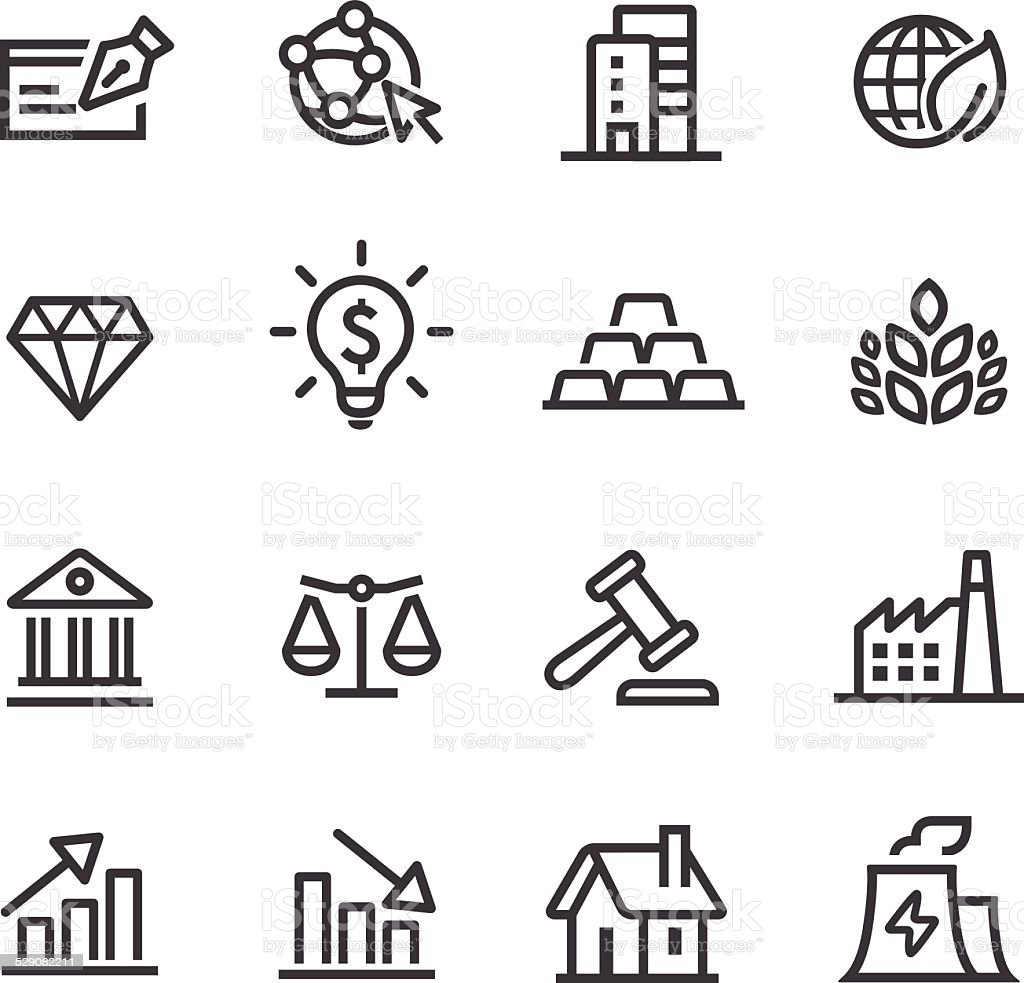 Investment Icons - Line Series vector art illustration