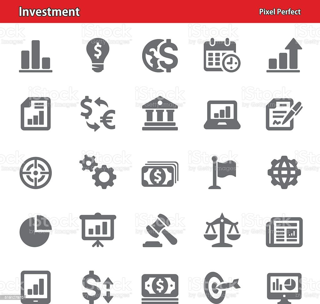Investment Icons - Set 2 vector art illustration