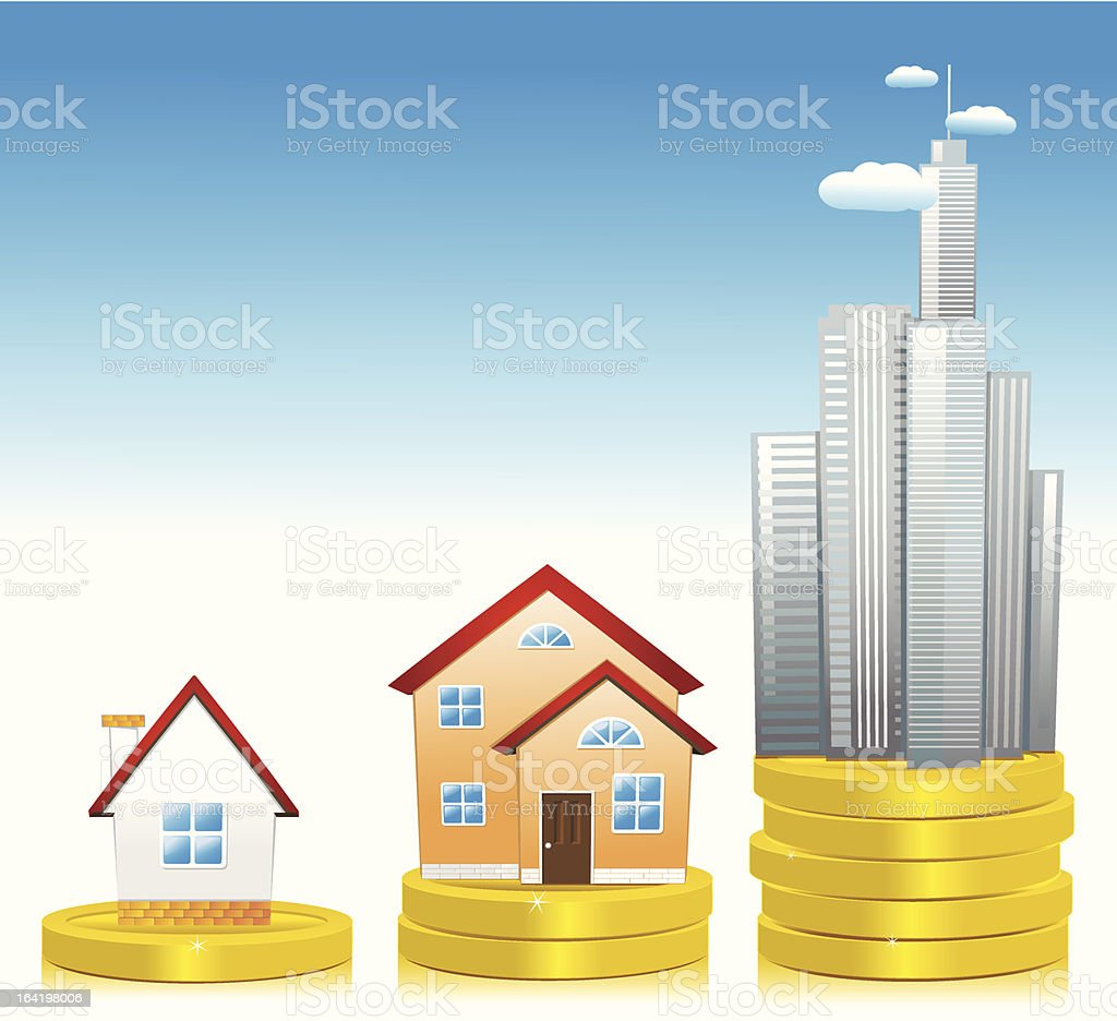 Investment in real estate development royalty-free stock vector art