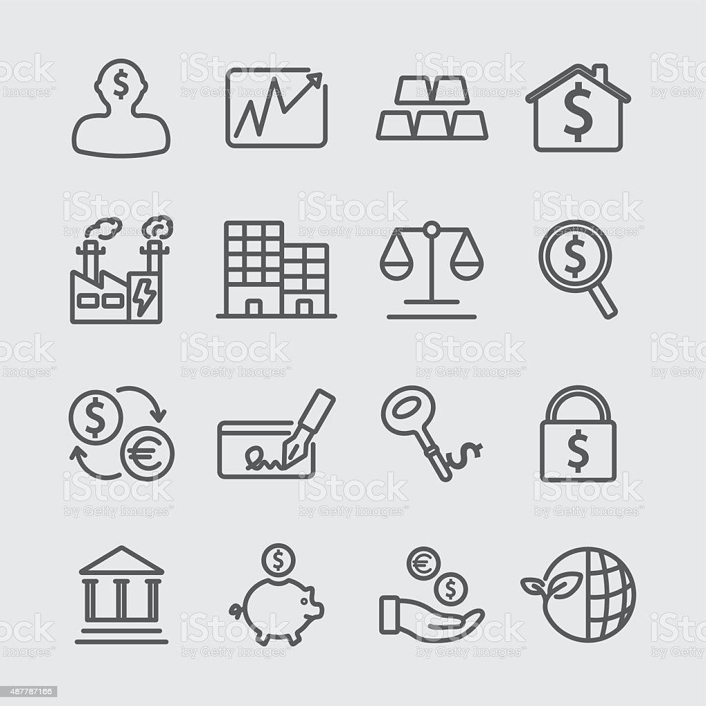 Investment line icon vector art illustration