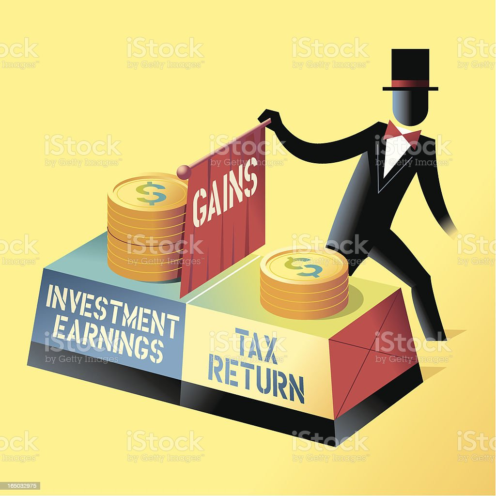 Investment Magic royalty-free stock vector art