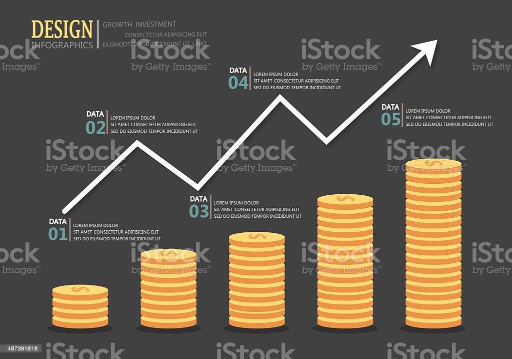 investment money vector art illustration