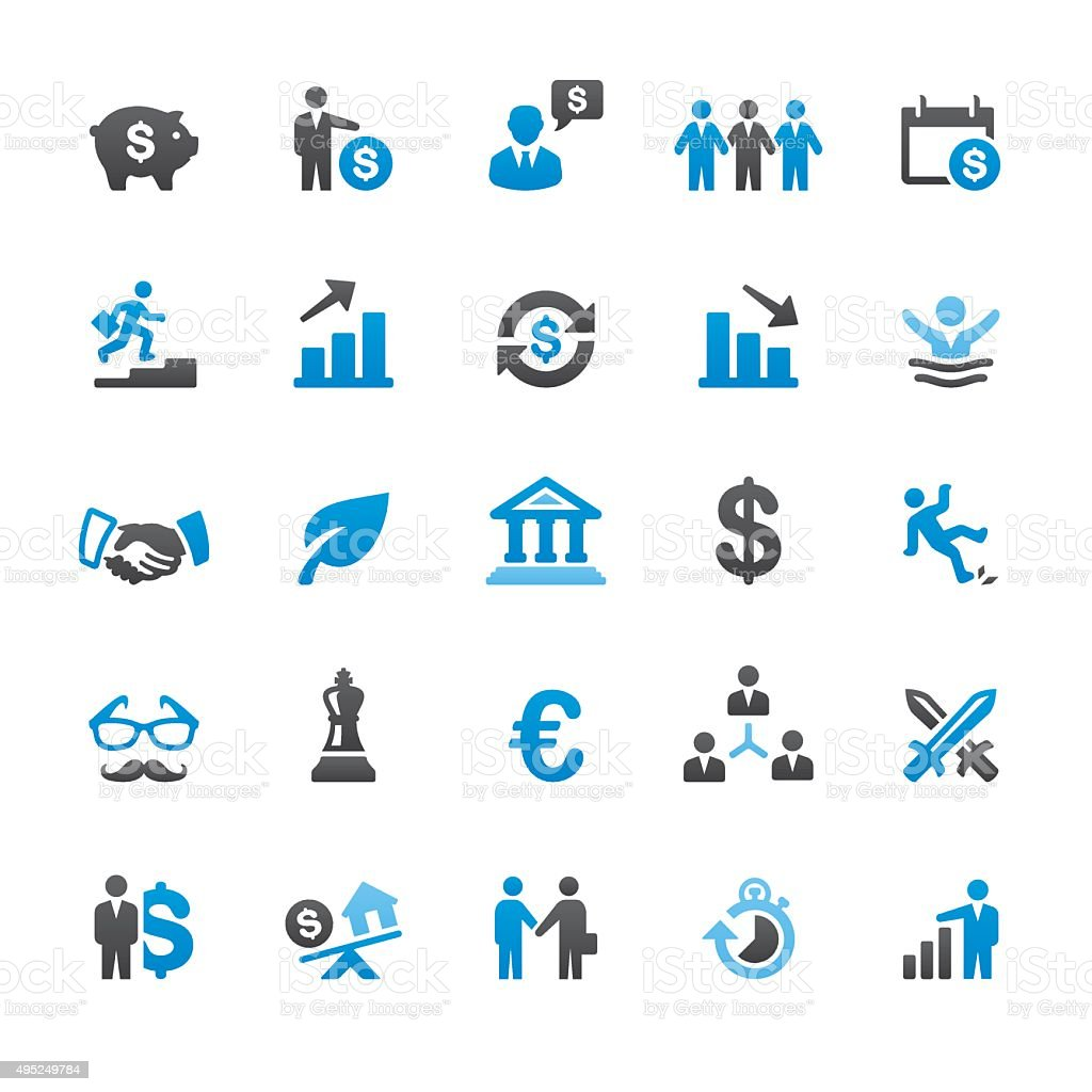 Investment Strategy related vector icons vector art illustration