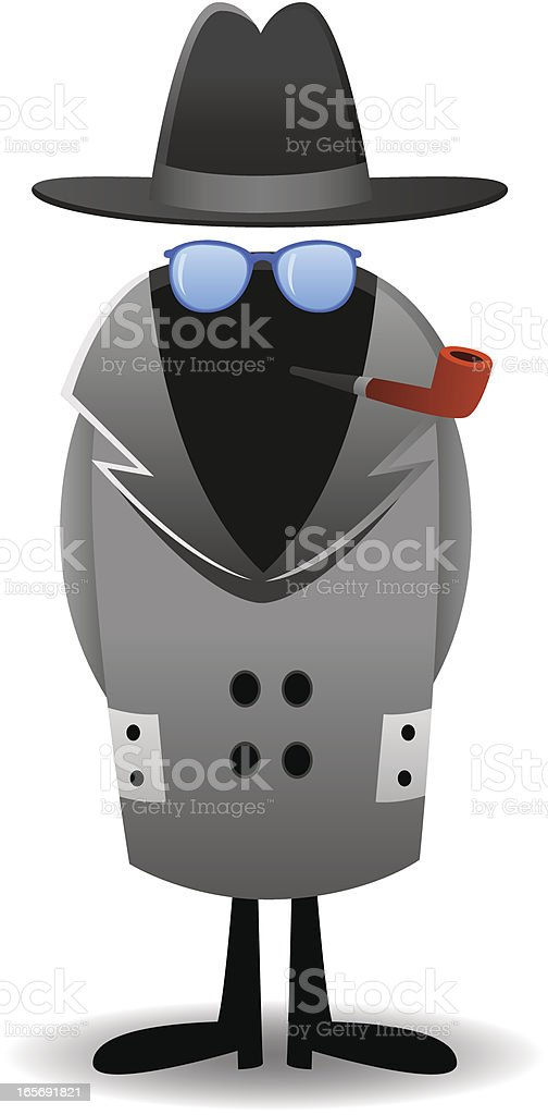 Invisible Man vector art illustration