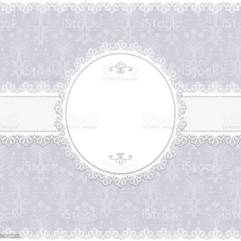 Invitation, anniversary card with label for your text royalty-free stock vector art