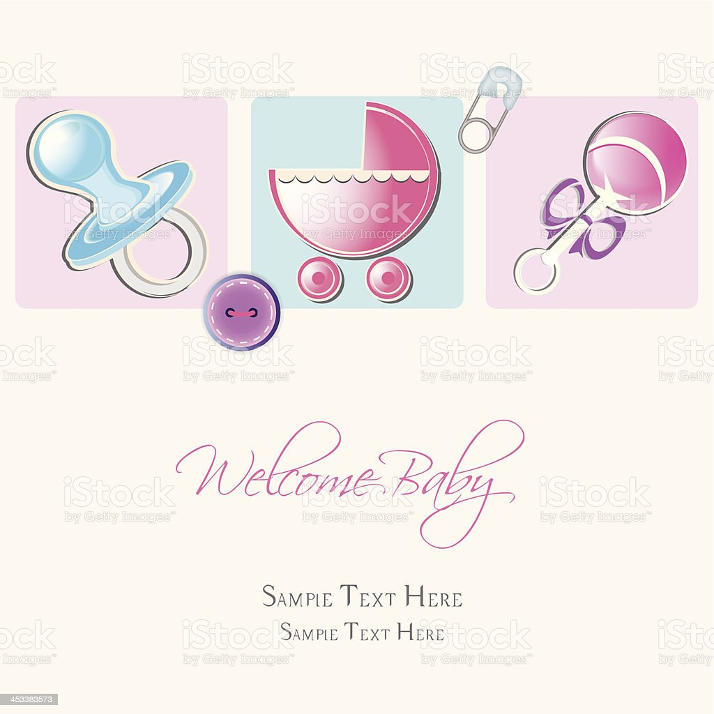 invitation, baby card royalty-free stock vector art