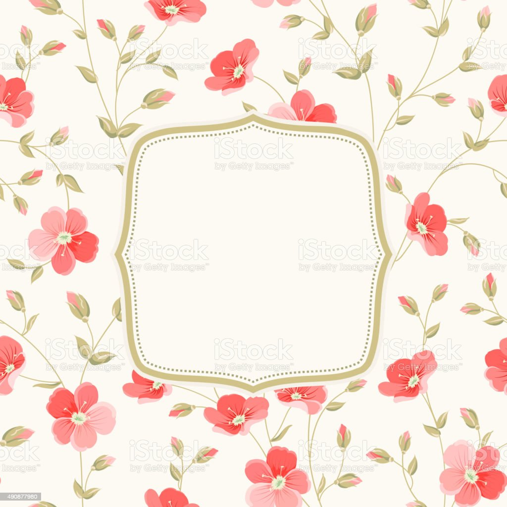 Invitation background vector art illustration