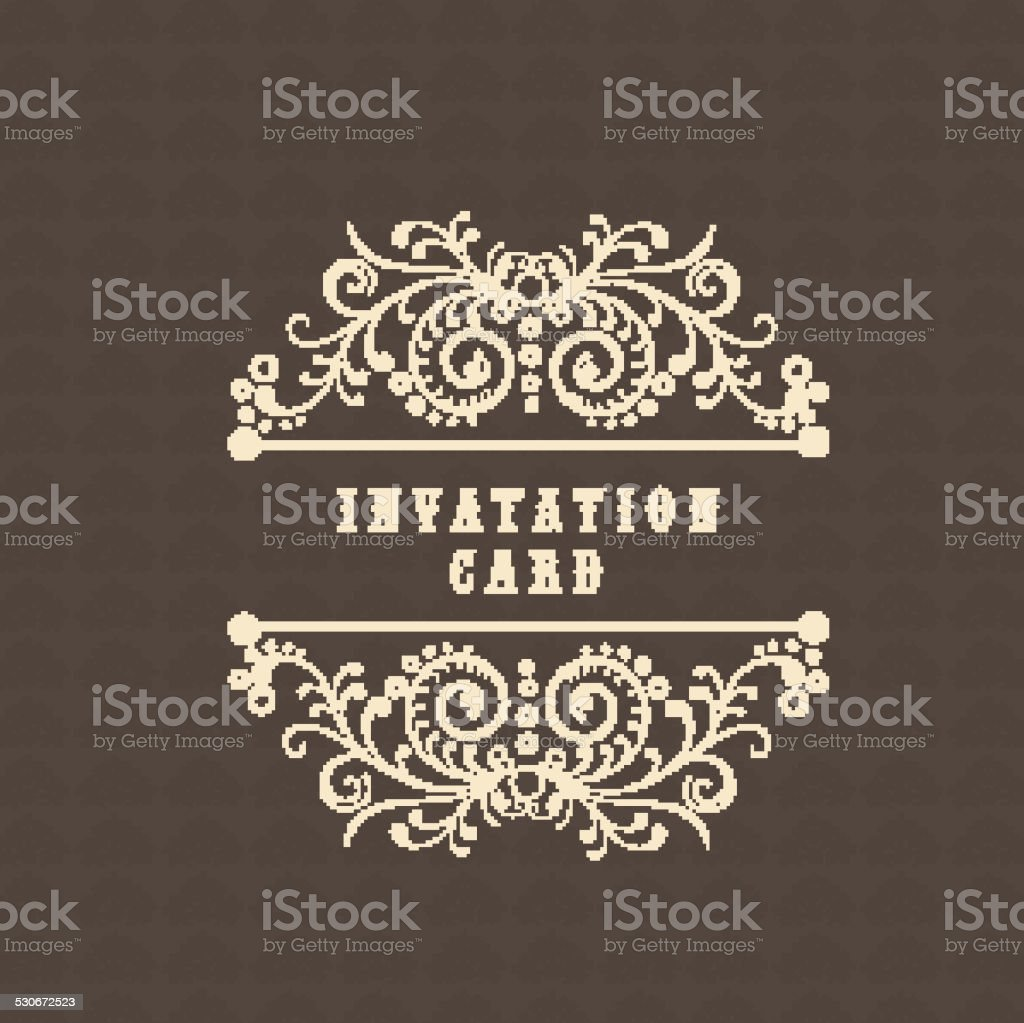 Invitation card design. vector art illustration