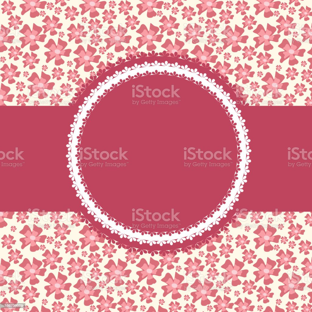 invitation card on floral background royalty-free stock vector art
