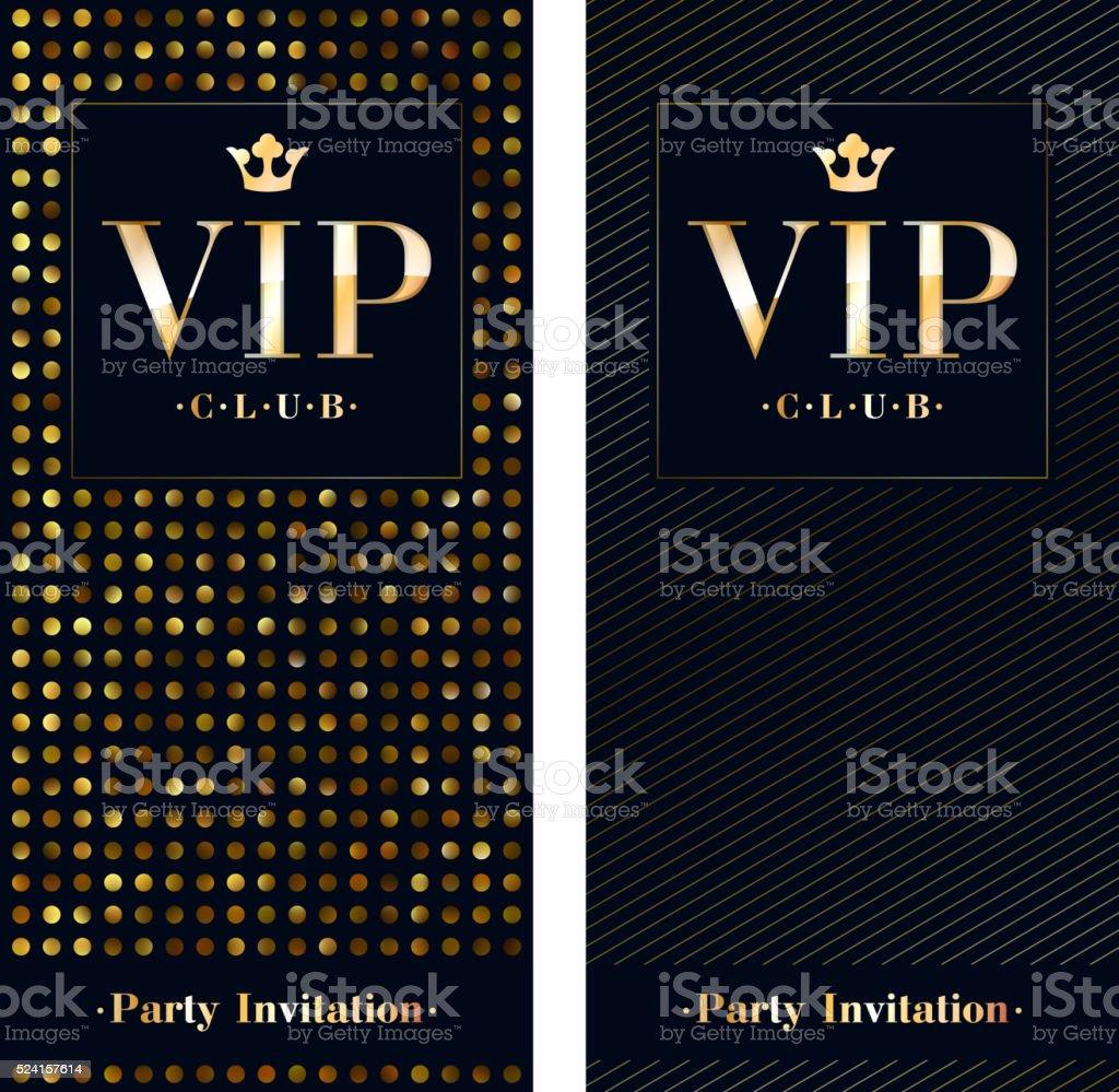 VIP invitation card premium design template vector art illustration
