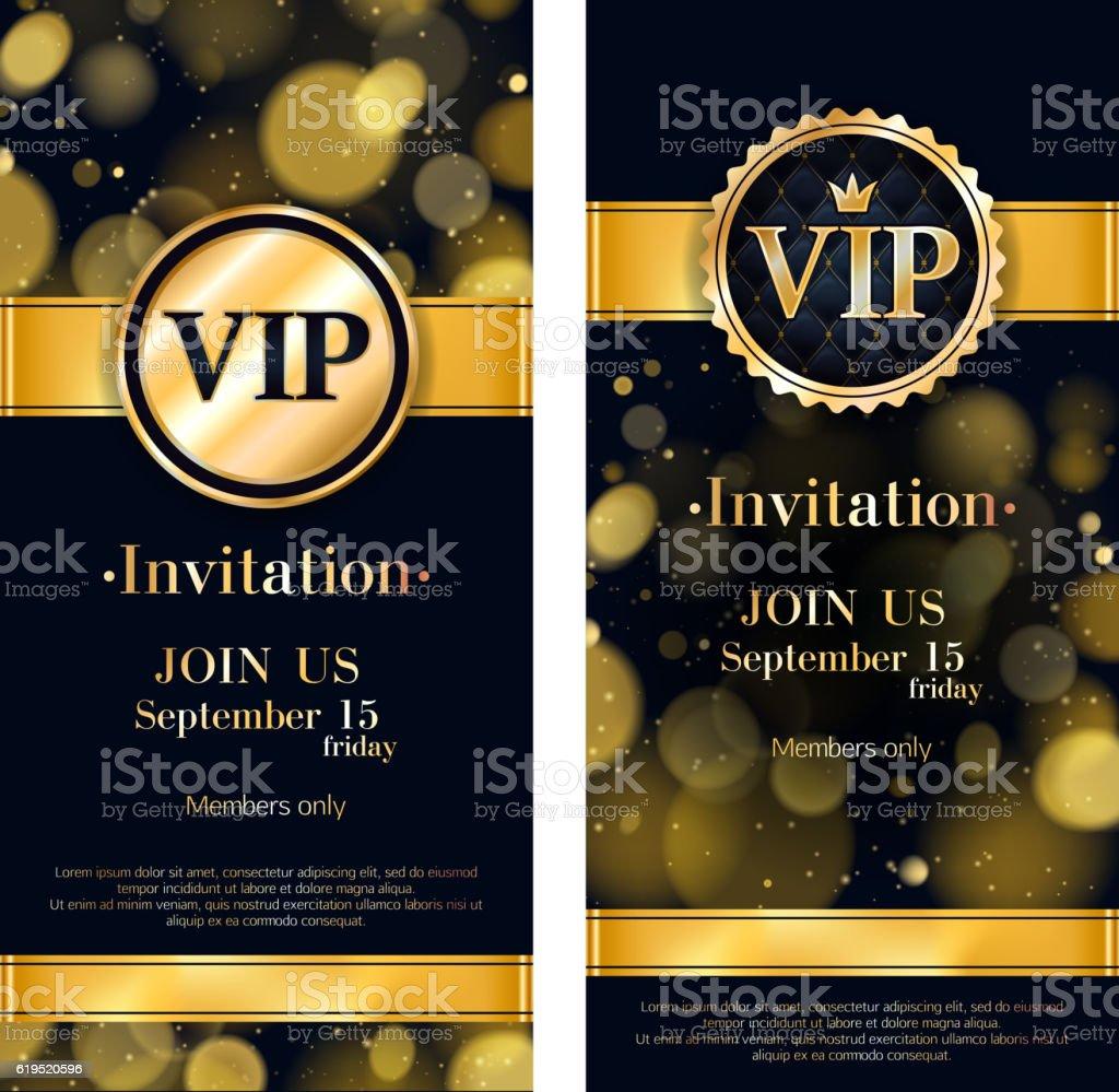 VIP invitation card premium design template. vector art illustration