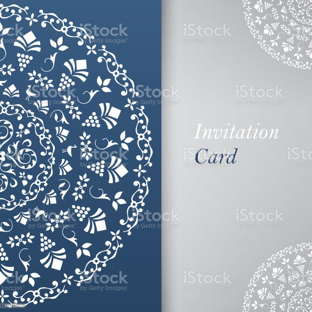 Invitation Card Template royalty-free stock vector art