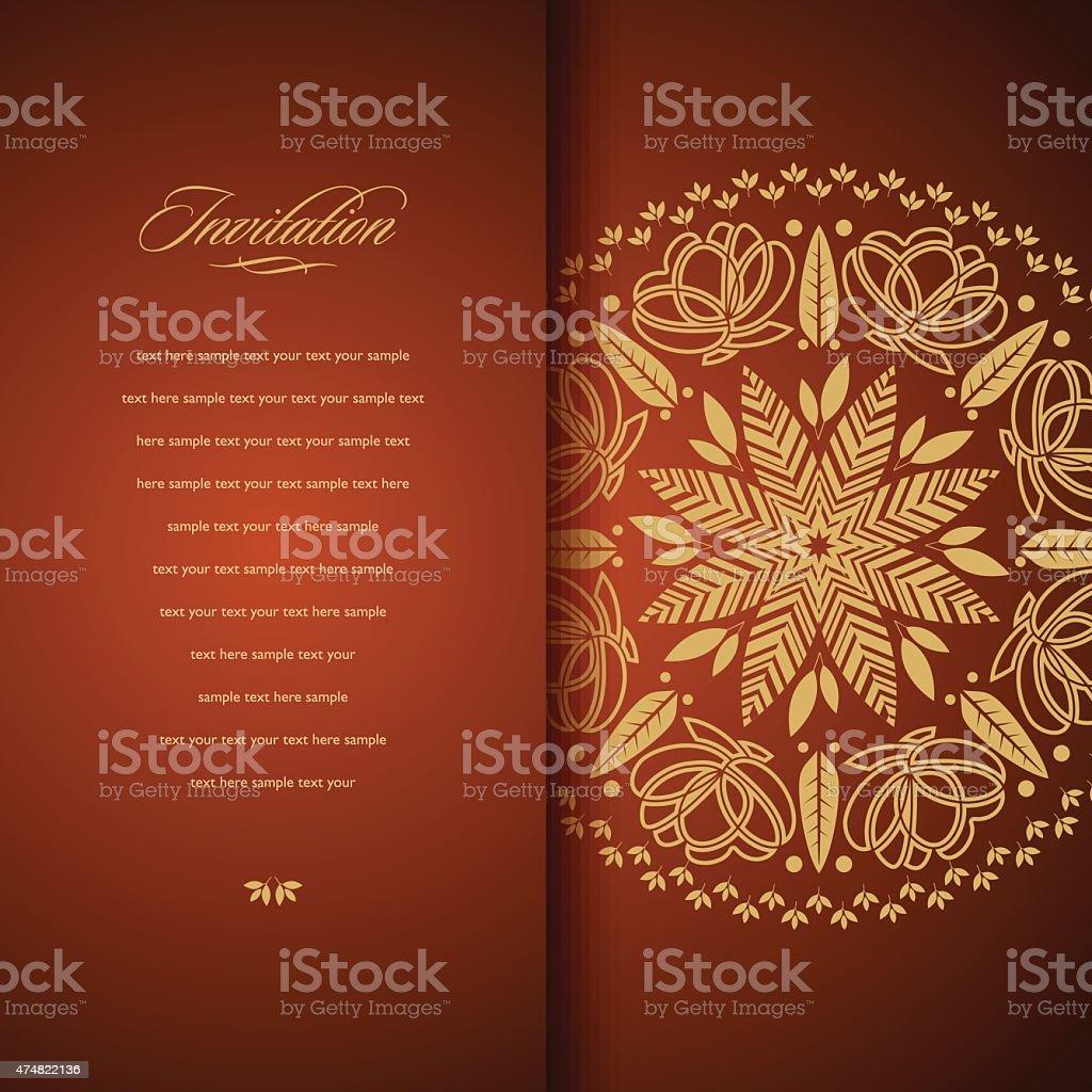 invitation card vector art illustration
