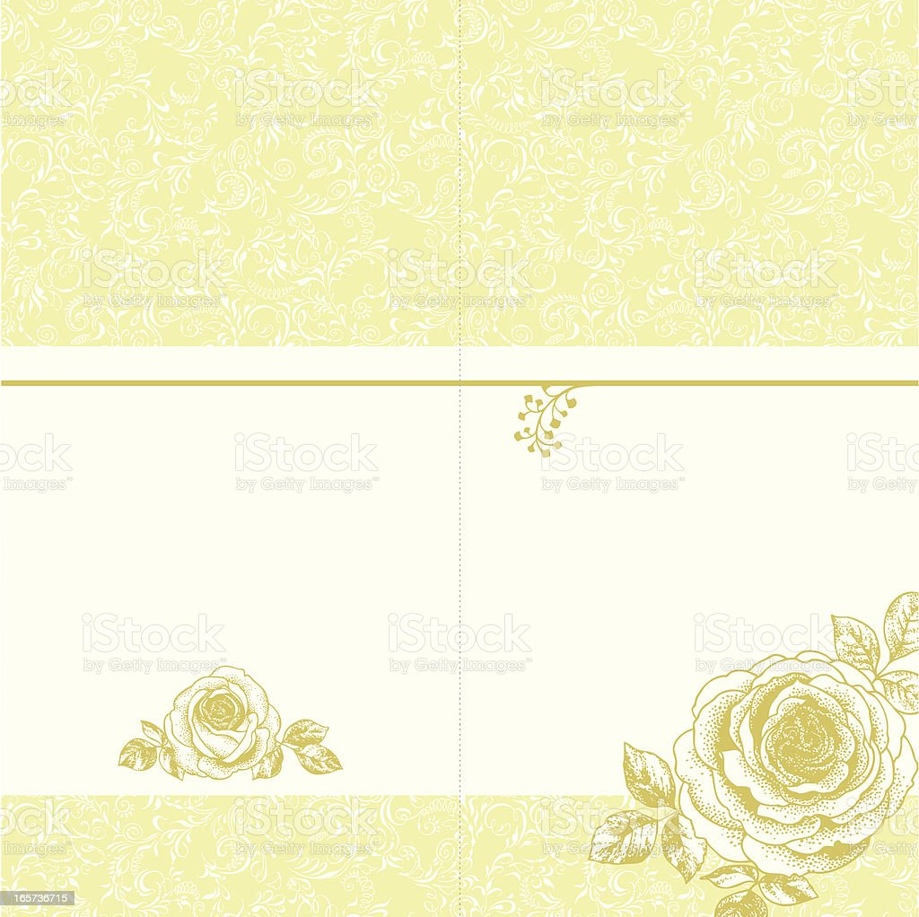 invitation card with roses royalty-free stock vector art