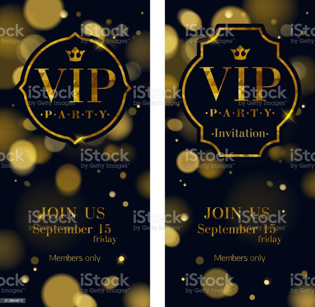 VIP invitation cards premium design template vector art illustration