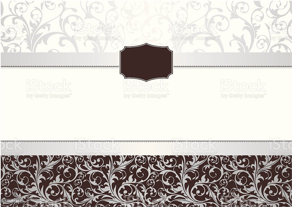 invitation floral frame royalty-free stock vector art