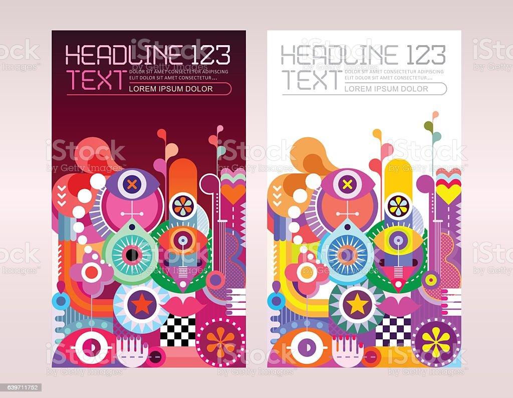 Invitation Flyer Design vector art illustration