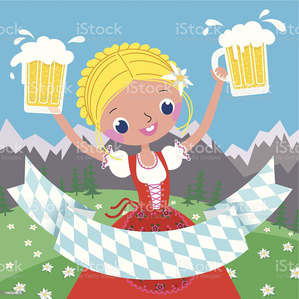 Invitation to an Octoberfest Beer Party. royalty-free stock vector art