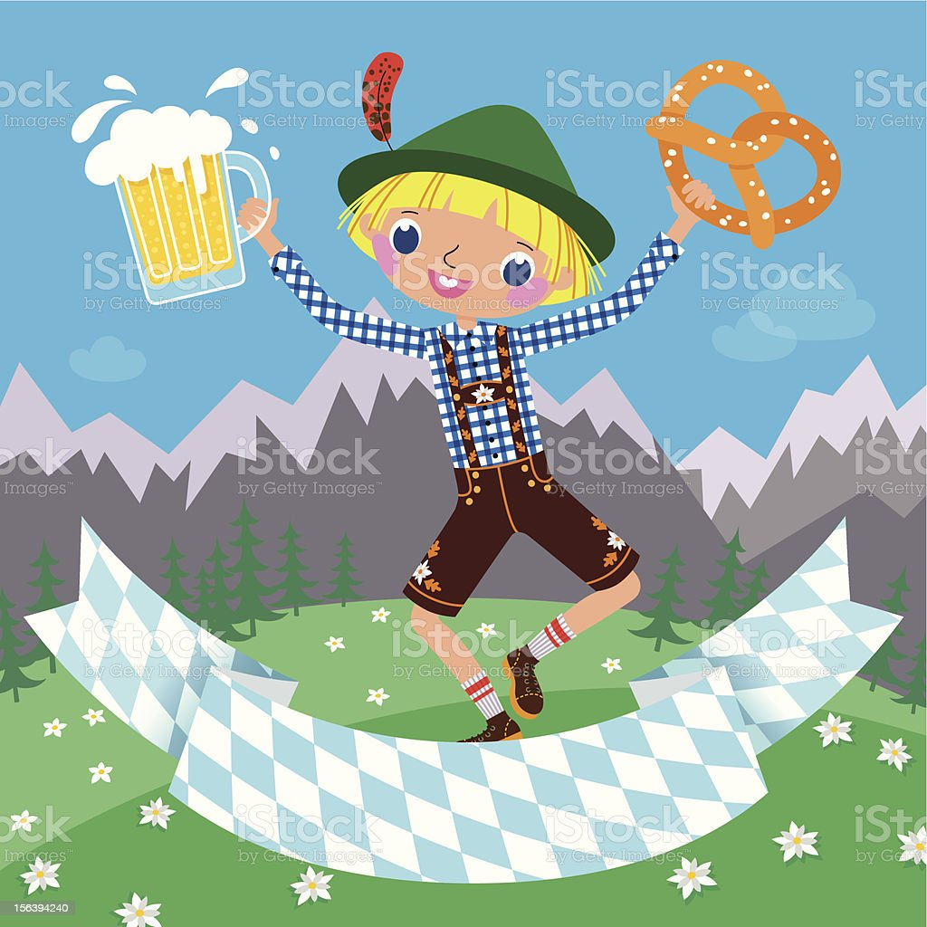 Invitation to an Octoberfest Beer Party. vector art illustration