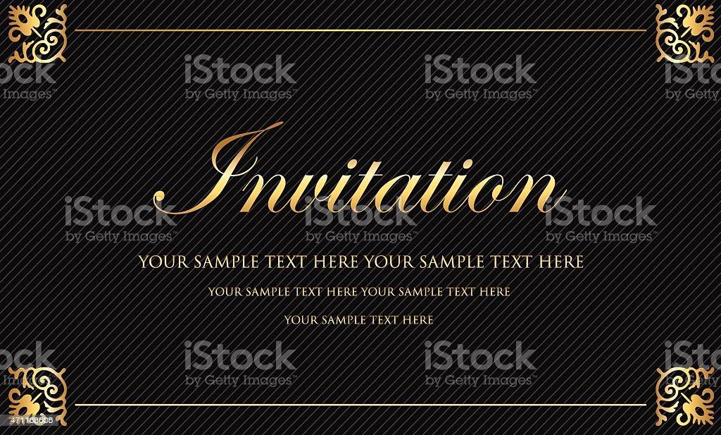Invitation vector art illustration