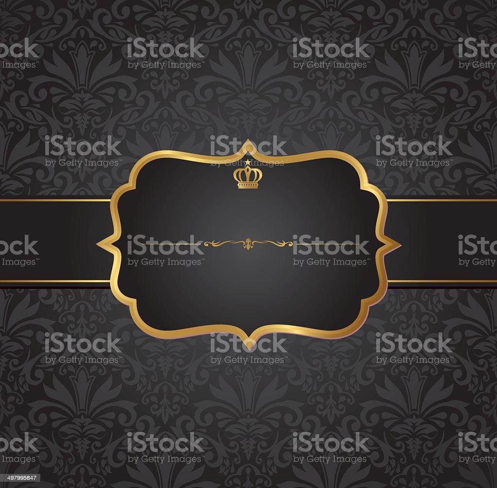 invitation vintage label vector frame vector art illustration