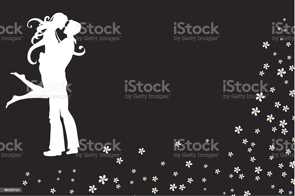 invitation with cool young couple royalty-free stock vector art