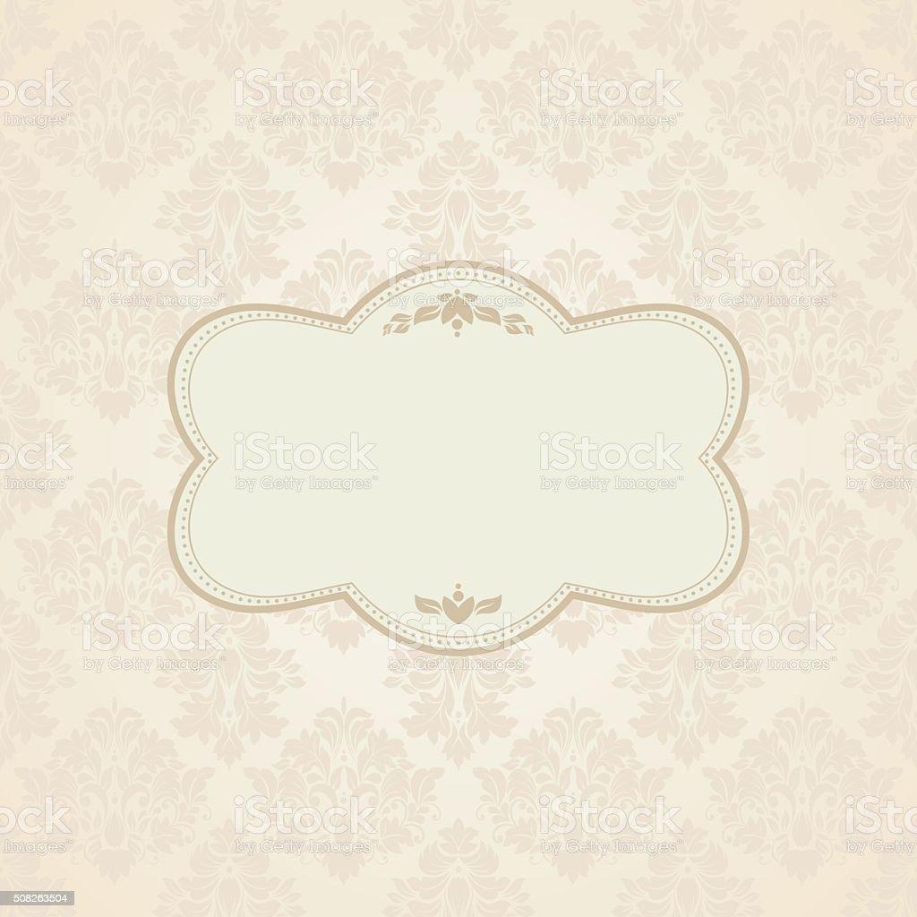 invitation with victorian ornaments vector art illustration
